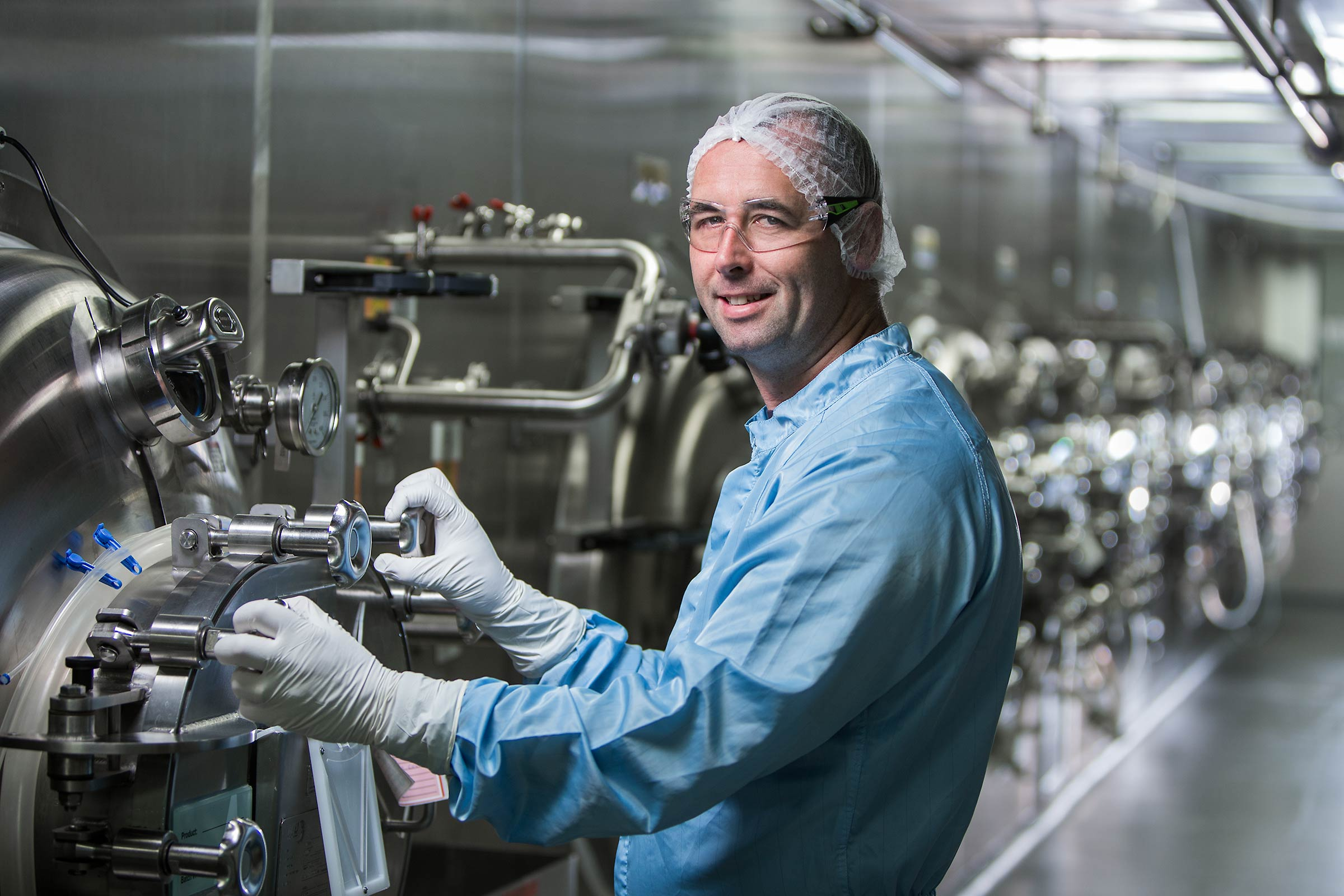 Pharmaceutical Manufacturing Technician Portrait in tech facility