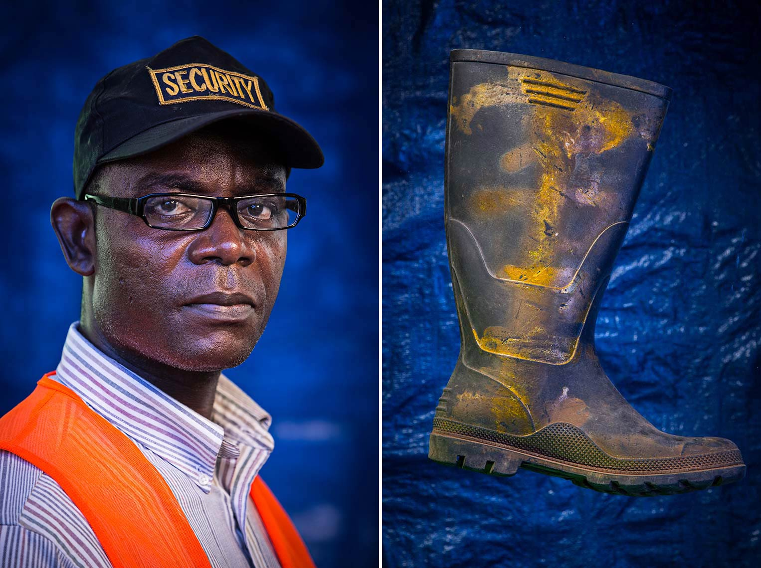 Series of images showcasing Personal Protective equipment used to guard against Ebola
