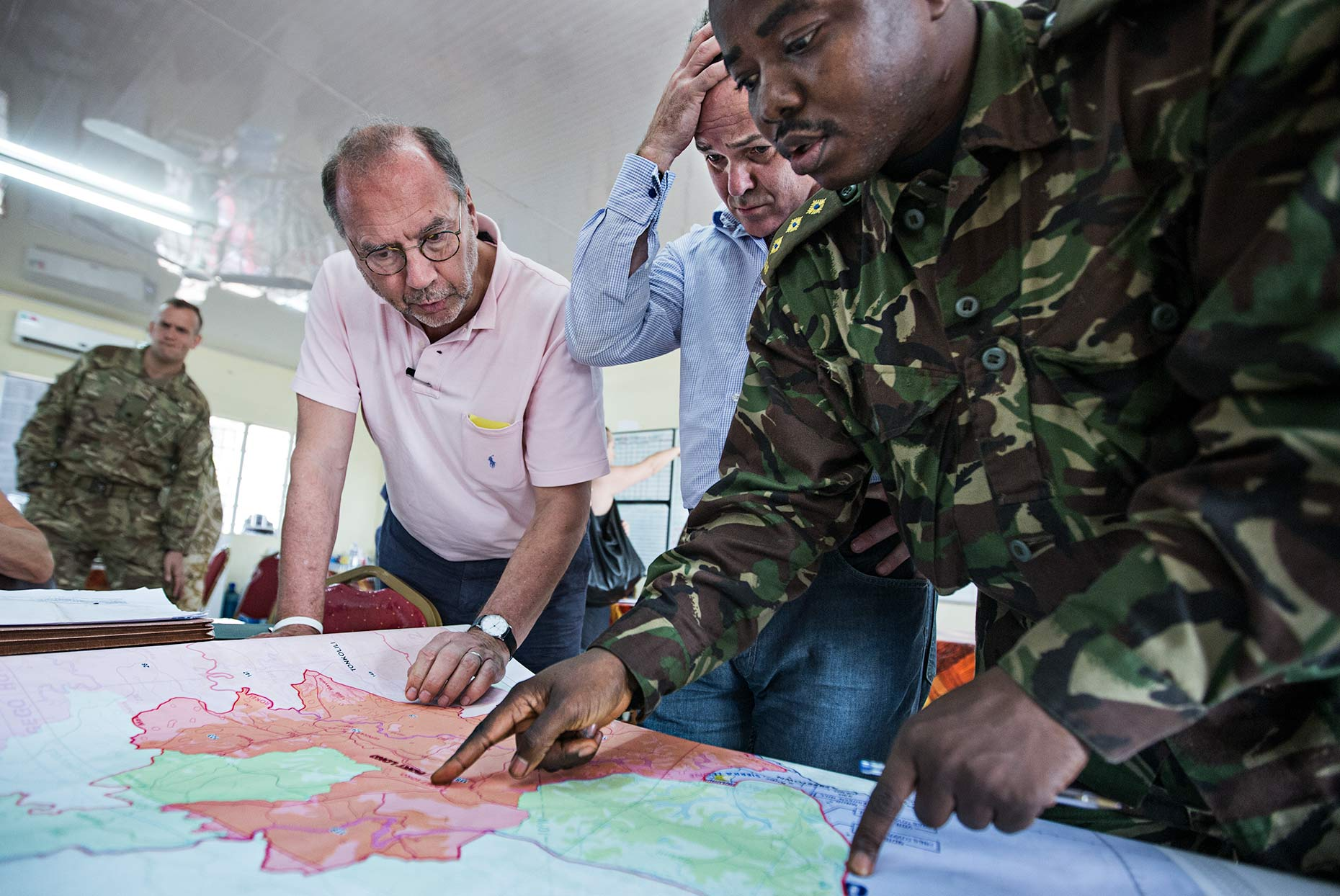 Global health experts convene wiht the military over the spread of the Ebola virus