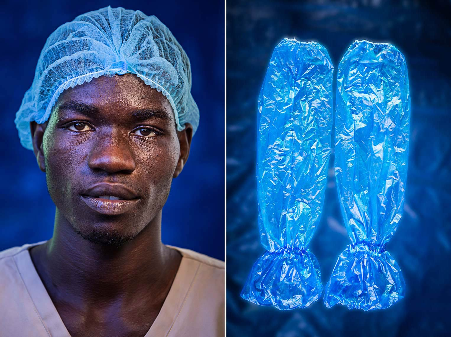 Faces of the people of the Ebola crisis created in a makeshift location studio