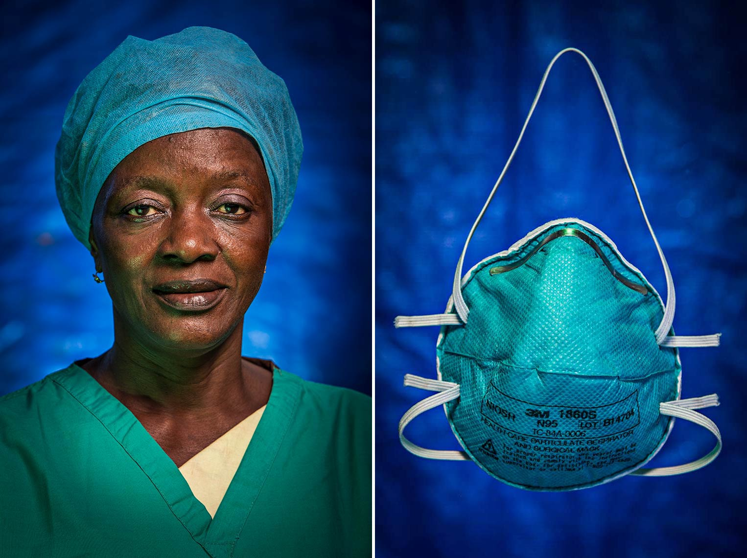 Portrait of Head Nurse of Ebola Treatment Unit in West Africa